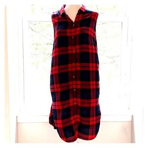 NWT H&M red checkered dress